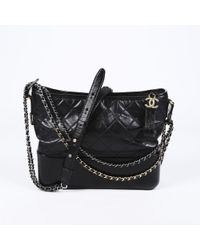Chanel - 2018 Large Gabrielle Quilted Calfskin Hobo - Lyst