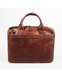"Christian Lacroix Brown Leather ""the Diplomat"" Briefcase"