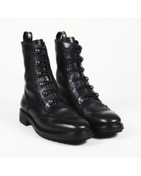 Dior - Dior Leather Lace Up Ankle Boots - Lyst