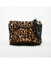 "Lanvin - ""happy"" Calf Hair Leopard Leather Shoulder Bag - Lyst"