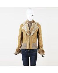 Elie Tahari - Leather Wool Shearling Jacket - Lyst