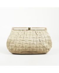 Judith Leiber - Textured Leather Snakeskin Clutch - Lyst