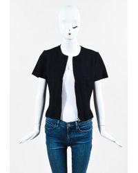 Alaïa | Black Knit Short Sleeve Paneled Zipped Jacket | Lyst