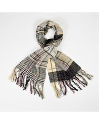 Chanel - Fall 2005 Multicolour Wool Blend Plaid Woven Fringed Scarf - Lyst