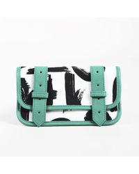 "Proenza Schouler - Multicolor Canvas & Leather Brush Stroke ""ps1"" Wallet - Lyst"