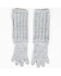 Moncler - Wool Chunky Knit Gloves - Lyst
