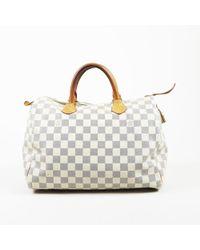 "Louis Vuitton - ""speedy 30"" Damier Azur Coated Canvas Bag - Lyst"