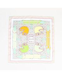 "Hermès - Multicolour Silk Horse Printed ""tatersale"" Scarf - Lyst"