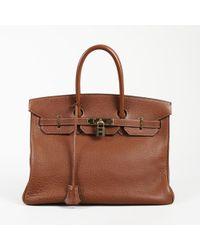 Hermès Birkin 35 Buffalo Leather Bag