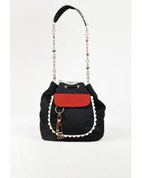 Boutique Moschino | Black Grosgrain Olive Oyl Keychain Bucket Bag | Lyst