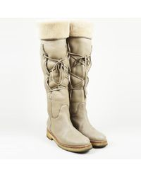 Loro Piana - Brown Suede Shearling Boots - Lyst