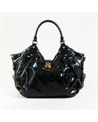 """Louis Vuitton - Black Monogram Patent Leather """"surya L"""" Shoulder Bag - Lyst"""