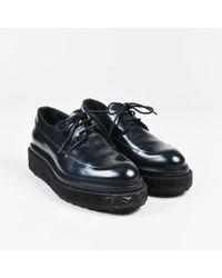 Pierre Hardy - Black Leather Lace Up Platform Oxford Flats - Lyst