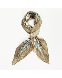 """Hermès - Silk """"au Coeur Des Bois"""" 90cm Plisse Scarf - Lyst"""