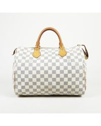 "Louis Vuitton - Damier Azur Coated Canvas ""speedy 30"" Handbag - Lyst"