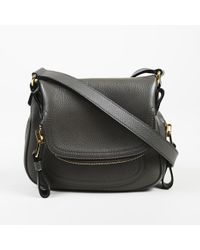 Tom Ford Jennifer Side-Zip Leather Hobo Bag in Brown - Lyst 5187126439725