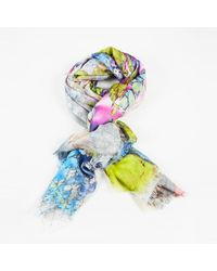 Matthew Williamson - Purple Green Multicolour Scarf - Lyst