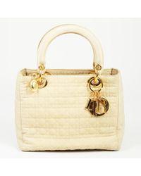 "Dior - Vintage ""lady Dior"" Cannage Quilted Nylon Handbag - Lyst"