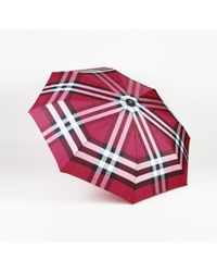 Burberry - Checked Trafalgar Umbrella - Lyst