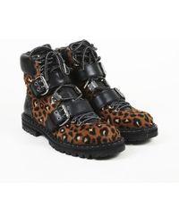 408659ac9476 Lyst - Jimmy Choo Woman Breeze Leather-trimmed Leopard-print Calf ...