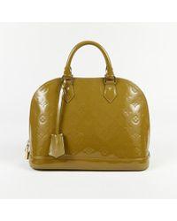 "Louis Vuitton - ""vert Olive"" Monogram Vernis Leather ""alma Pm"" Bag - Lyst"