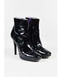 Emilio Pucci - Black Patent Leather Heeled Ankle Boots - Lyst