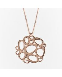 """Ippolita - 18k Yellow Gold Plated """"rose Mosaico Pendant"""" Necklace - Lyst"""
