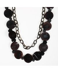 Marni - Wood Medallion Chainlink Necklace - Lyst
