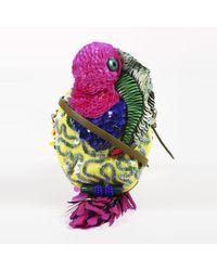 Jamin Puech - Pink Multicolour Beaded & Sequin Parrot Crossbody Bag - Lyst
