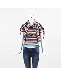 Sonia Rykiel - Multicolor Cotton Crystal Embellished Sweater & Matching Scarf - Lyst