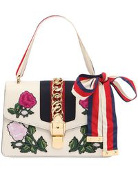 Gucci - Small Sylvie Leather Bag W/ Patches - Lyst