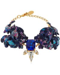 Halo - Colored Bracelet With Swarovski Crystals - Lyst