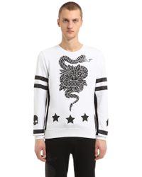Hydrogen - Snake Printed Cotton Sweatshirt - Lyst