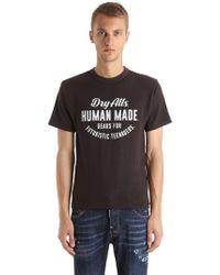 Human Made - Bedrucktes T-shirt Aus Baumwolle - Lyst