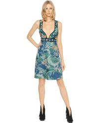 Burberry Prorsum - Quilted Floral Cotton Dress - Lyst