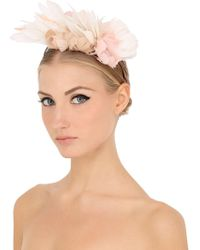 Nanà Firenze - Feather Flowers Headband - Lyst