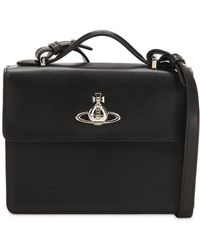 Vivienne Westwood - Matilda Black Leather Medium Cross-body Bag - Lyst