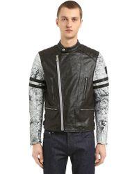 Belstaff - Ennis Leather Moto Jacket - Lyst