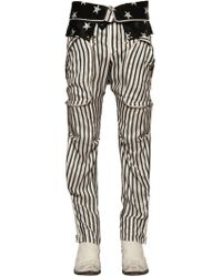 Faith Connexion - Stripe & Stars Printed Silk Satin Trousers - Lyst