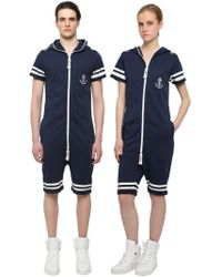 OnePiece - Naval French Terry Cotton Jumpsuit - Lyst