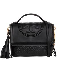 Tory Burch - Flaming Quilted Leather Satchel Bag - Lyst