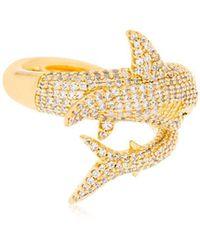 Apm Monaco - Shark Open Ring - Lyst