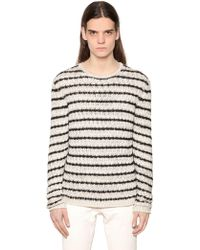 John Varvatos - Striped Cotton Blend Knit Jumper - Lyst