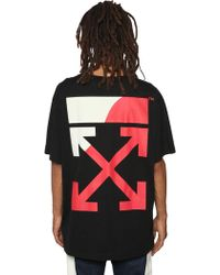 Off-White c/o Virgil Abloh - Oversized Fit Printed Jersey T-shirt - Lyst