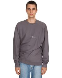 a1dadcc69623 On sale Off-White c o Virgil Abloh - Twisted Vintage Cotton Sweatshirt -  Lyst