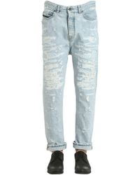 Diesel Black Gold - Narrot Fit Ripped Denim Jeans - Lyst