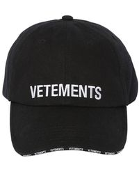 Vetements - Logo Embroidered Cotton Baseball Hat - Lyst
