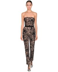 f4dd5d2a6ff9 Moschino - Embroidered Sheer Tulle Jumpsuit - Lyst