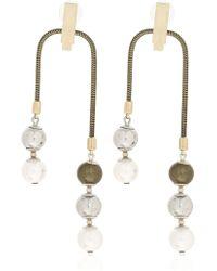 Lanvin - Faux Pearl Earrings - Lyst