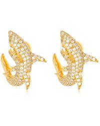 Apm Monaco - Shark Stud Earrings - Lyst